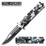4.5 Inch Assisted Opening Tactical Folder Pocket Knife - Snow Camo