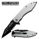 Silver Mutilator Spring Assisted Opening Pocket Knife - 4 Inch