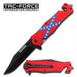 Confederate Flag Assisted Opening Tactical Folder Knife