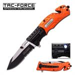 Tac-Force Spring Assisted Tactical Knife with LED Light EMT