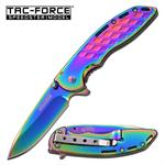 Speedster Model Action Spring Assist Opening Knife - Rainbow Titanium