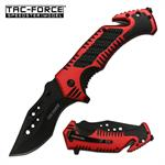 Tac Force Speedster Rescue Spring Assisted Knife Red