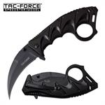 Tac Force Black Karambit Spring Assisted Folding Pocket Knife