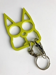 Cat Self Defense Knuckle Key Chain - Golden