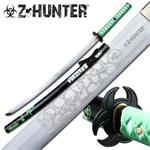 Z-Hunter Semi Handmade Full Tang Katana Sword - Green Handle Green Scabbard