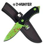 Z-Hunter 7.25 Inch Full Tang Fixed Blade Hunting Knife - Black G10 Handle