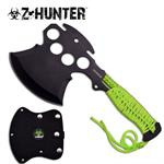 Zombie Hunter Green Hatchet Axe - Knuckle Design Axe Blade