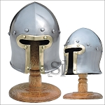 Barbute Miniature Helmet With Stand