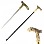 Bear Head Walking Sword Cane