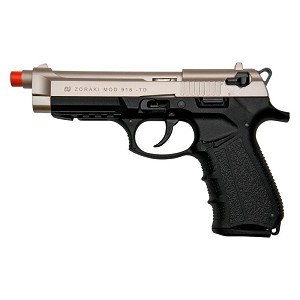 Zoraki Front Firing M918 Satin Finish 9mm Blank Gun Pistol