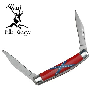 "2.85"" Closed Elk Ridge 2 Bladed Pen Knife - CSA Handle"