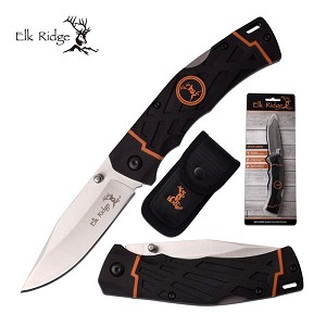 Elk Ridge Manual Lockback Folding Hunting Knife Plain Blade
