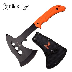 Elk Ridge Outdoor Camping Hunting Axe with Orange Handle