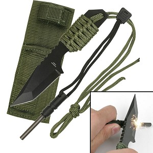 Survivor 7 Inch Fixed Blade Survial Camping Knife with Fire Starter