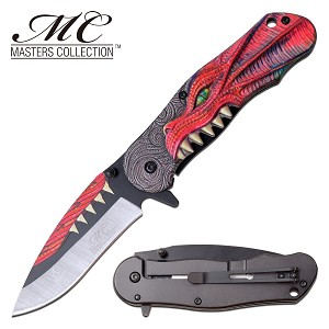 GOT Pocket Knife Red Dragon Spring Assisted Knife