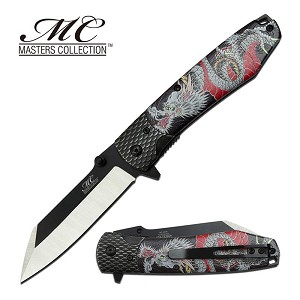 Black Dragon Spring Assisted Folding Pocket Knife