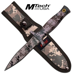 Mtech Fixed Blade Boot Knife - Digital Camo Coating