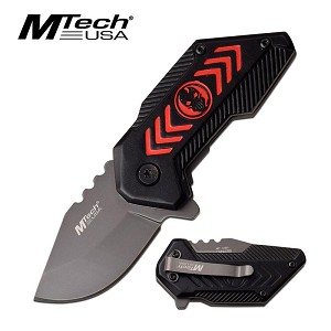 Mtech Small Punisher Spring Assisted Folding Pocket Knife Red