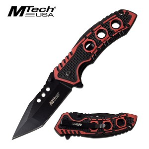 Mtech USA Two Tone Spring Assisted Opening Pocket Knife Red