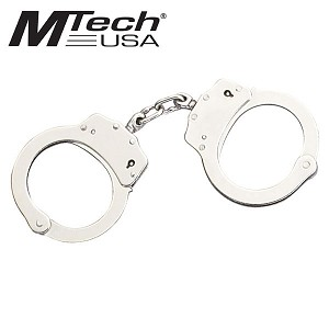 Mtech Nickel Plated Double Lock Handcuff
