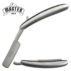 Straight Razor -Stainless Steel Handle Razor Folding Knife