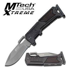 MTech USA Xtreme Manual Folding Pocket Knife Grey Ti