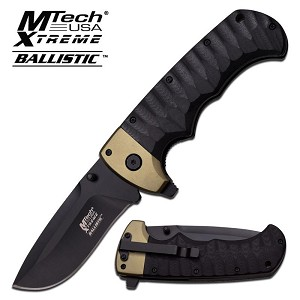 Mtech USA Xtreme Ballistic Spring Assisted Knife - Black Green