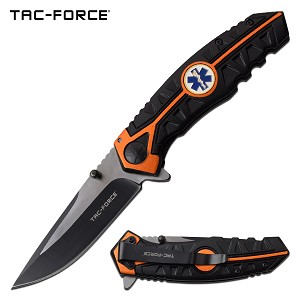 Tac Force Emergency Service Pocket Knife Spring Assisted Knife