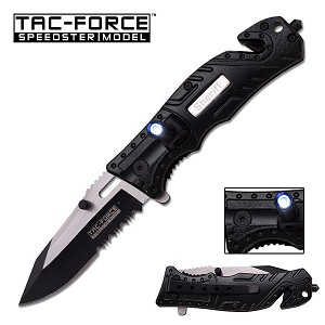 Tac-Force Spring Assisted Tactical Knife with LED Light SHERIFF