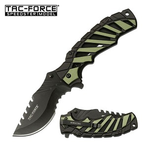 5 Inch Closed Tac Force Spring Assisted Knife Green