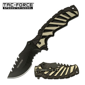 5 Inch Closed Tac Force Spring Assisted Knife Tan