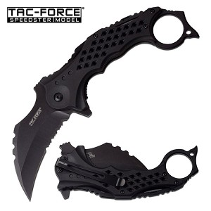 Tac Force Karambit Blade Spring Assisted Knife Black Handle